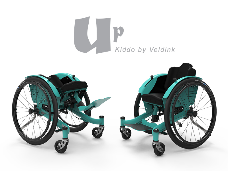 Kiddo Up 'wheelchair with a tilt function, lightweight, for the smallest users'